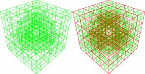 The complete Dualgrid of the quarter sphere scene