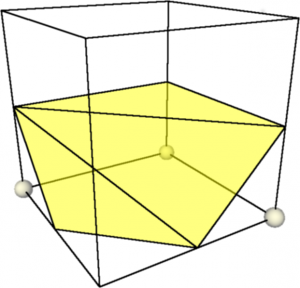 2: Triangulation of a cube configuration