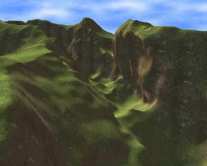 A volume terrain